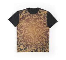 Oriental Persian Paisley, Swirls - Brown Black  Graphic T-Shirt