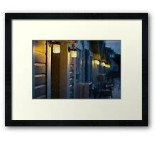 Rainy Night Motel II Framed Print