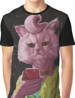 Dedicated Cat Graphic T-Shirt