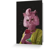 Dedicated Cat Greeting Card