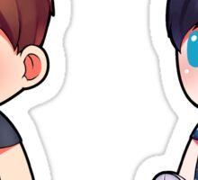 Plushie! Dan and Phil (Tatinof Normal) Sticker