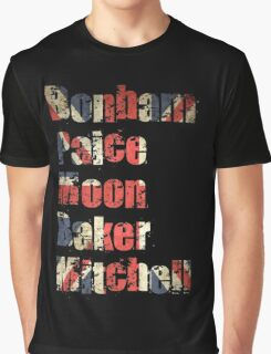 Bonham - Paice - Moon - Baker - Mitchell - British Drumming Legends Graphic T-Shirt