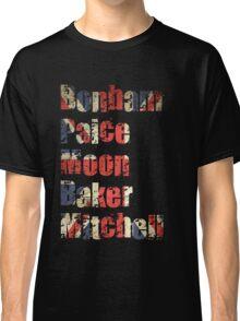 Bonham - Paice - Moon - Baker - Mitchell - British Drumming Legends Classic T-Shirt