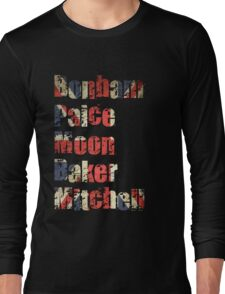 Bonham - Paice - Moon - Baker - Mitchell - British Drumming Legends Long Sleeve T-Shirt