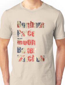 Bonham - Paice - Moon - Baker - Mitchell - British Drumming Legends Unisex T-Shirt