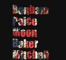 Bonham - Paice - Moon - Baker - Mitchell - British Drumming Legends Unisex T-Shirt