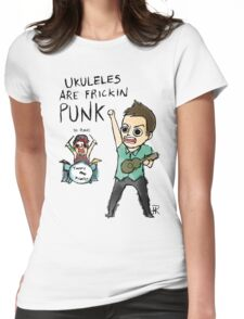 UKULELES ARE FRICKIN PUNK (OFFICIAL) Womens Fitted T-Shirt