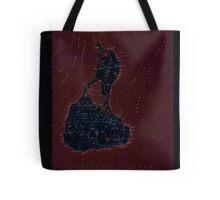 USGS TOPO Map Rhode Island RI Block Island 353243 1957 24000 Inverted Tote Bag