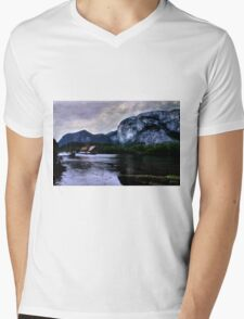 Houseboat Under the Chief Mens V-Neck T-Shirt