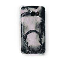 White Horse In Dark Background Samsung Galaxy Case/Skin
