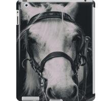 White Horse In Dark Background iPad Case/Skin