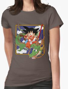 Goku And Shenron Womens Fitted T-Shirt