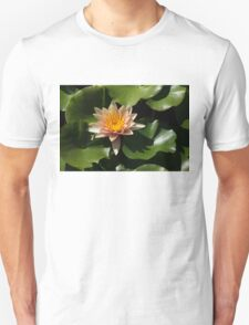 Exotic Colors - A Soft Coral Waterlily Unisex T-Shirt