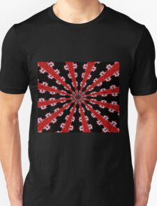 Red Black and White Abstract Unisex T-Shirt