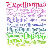 Harry potter magic spells Photographic Print