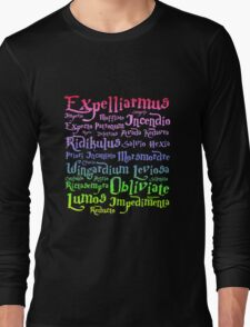 Harry potter magic spells Long Sleeve T-Shirt