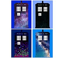 Tardis Funky Four Background Design Photographic Print
