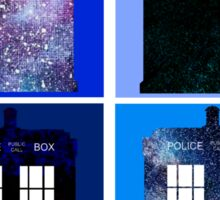 Tardis Funky Four Background Design Sticker
