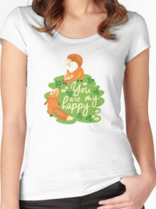 You are my happy Women's Fitted Scoop T-Shirt