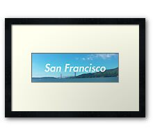 san francisco water  Framed Print