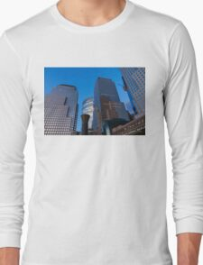 Manhattan Blue Hour - Skyscrapers from the Hudson River Esplanade Long Sleeve T-Shirt