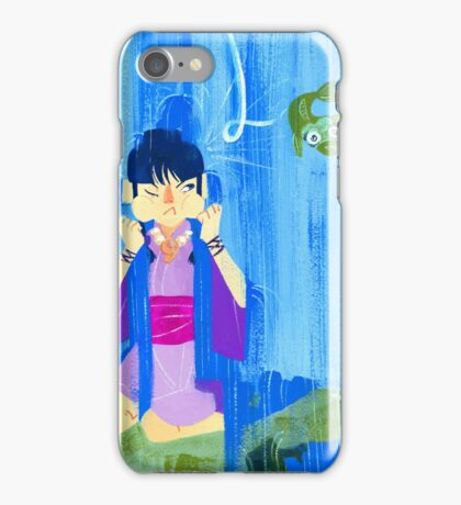 The glamorous life of a spirit medium a la Maya Fey.  iPhone Case/Skin