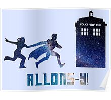 Allons-y Tenth Doctor and Companion Poster