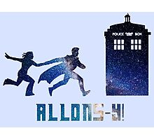 Allons-y Tenth Doctor and Companion Photographic Print