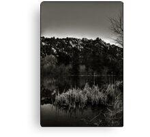 Prescott Lake Sunrise  Monochrome Canvas Print