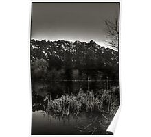 Prescott Lake Sunrise  Monochrome Poster