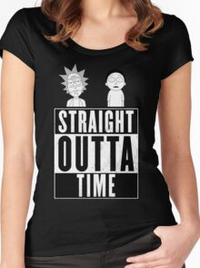 Straight outta Time - Rick & Morty Women's Fitted Scoop T-Shirt