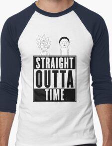 Straight outta Time - Rick & Morty Men's Baseball ¾ T-Shirt