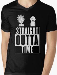 Straight outta Time - Rick & Morty Mens V-Neck T-Shirt