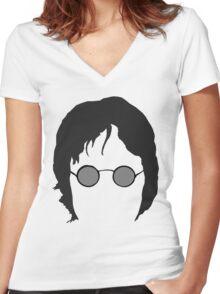 John Lennon The beatles Women's Fitted V-Neck T-Shirt