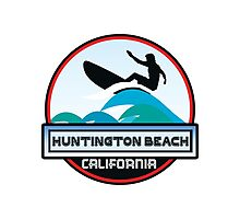 Surfing Huntington Beach California Surf Surfboard Waves Photographic Print