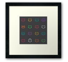 The cat's muzzle Framed Print