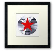 Winter Soldier Shield - Chrome  Framed Print