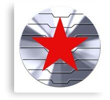 Winter Soldier Shield - Chrome  Canvas Print