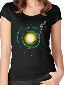 music from the milky way Women's Fitted Scoop T-Shirt