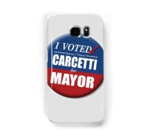 """I Voted Carcetti for Mayor (pin) - """"The Wire"""" Samsung Galaxy Case/Skin"""