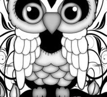 Black lace Owl .. tee shirt Sticker