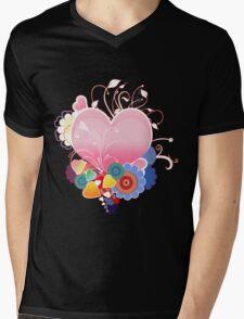 Abstract Hearts  Mens V-Neck T-Shirt