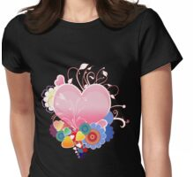 Abstract Hearts  Womens Fitted T-Shirt