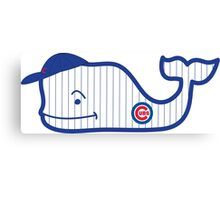 Chicago Cubs Whale Canvas Print