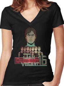 Jan Quadrant Vincent 16 Women's Fitted V-Neck T-Shirt