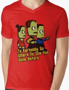 To Kerboldly Go Mens V-Neck T-Shirt