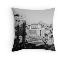 Traces of History Throw Pillow