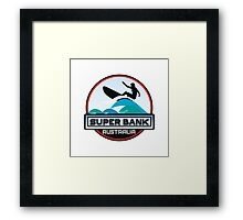 Surfing Super Bank Australia Surf Surfboard Waves Gold Coast Framed Print