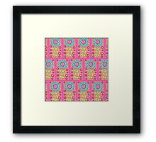 Rectangle Flower Repeat Framed Print