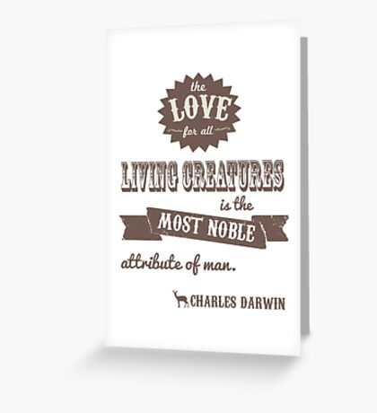 Charles Darwin Quote Greeting Card